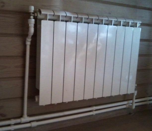 Подключения радиатора двухтрубной системе