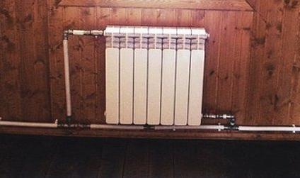 Пример диагонального подключения радиатора