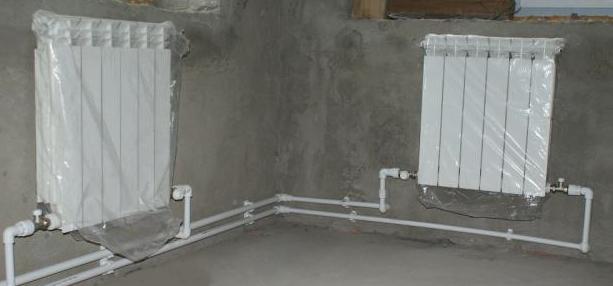подключения радиатора к двухтрубной системе