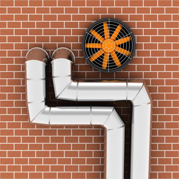 Вентиляционные трубы в стене